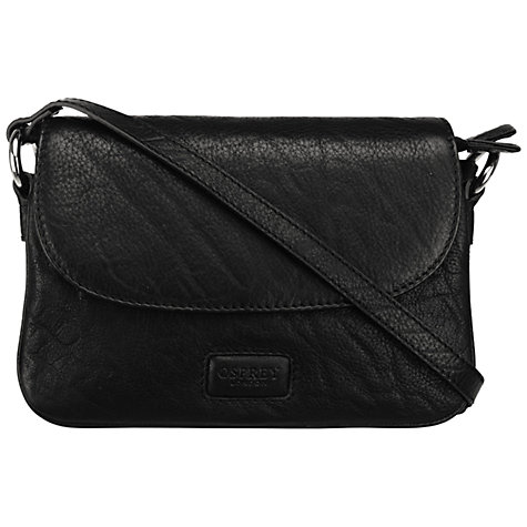 Buy OSPREY LONDON Monroe Mini Across Body Handbag, Black Online at johnlewis.com