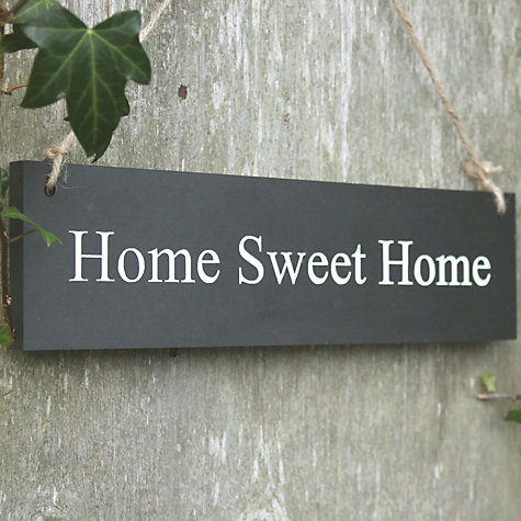 Buy ashortwalk Recycled Home Sweet Home Sign Online at johnlewis.com