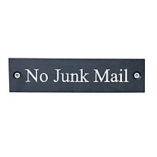 Buy ashortwalk No Junk Mail Sign, Slate Online at johnlewis.com