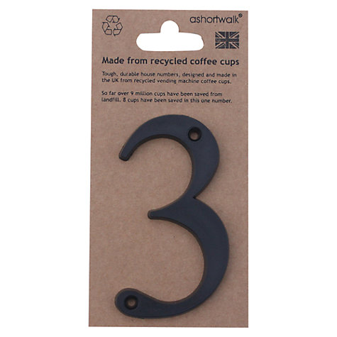 Buy ashortwalk Recycled Numeral 3 Online at johnlewis.com
