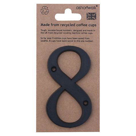 Buy ashortwalk Recycled Numeral 8 Online at johnlewis.com