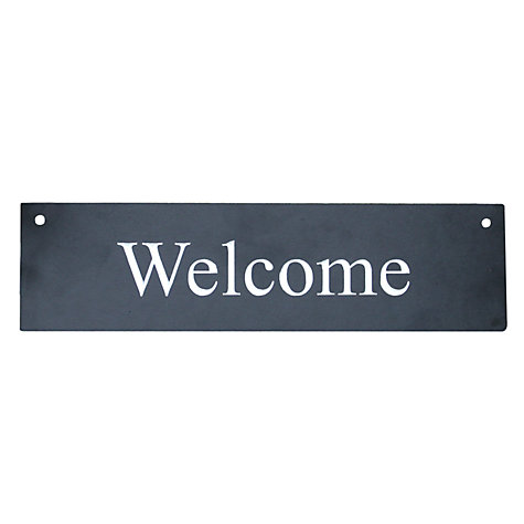 Buy ashortwalk Welcome Sign Online at johnlewis.com