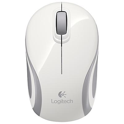 Image of Logitech M187 Mini Wireless Mouse, White