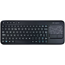 Buy Logitech Wireless Touch K400 Keyboard Online at johnlewis.com