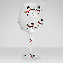 Buy Lolita Frosty Party Wine Glass Christmas Tree Decoration Online at johnlewis.com