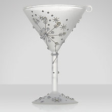 Buy Lolita Silver Snowflake Cocktail Glass Christmas Tree Decoration Online at johnlewis.com