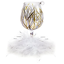 Buy Lolita Tinsel Wine Glass Christmas Tree Decoration Online at johnlewis.com