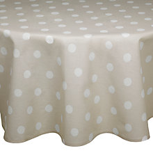 Buy John Lewis Spots Wipe Clean Round Tablecloth Online at johnlewis.com