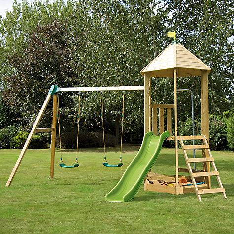 Buy TP Castlewood Tower and Double Swing Set Online at johnlewis.com