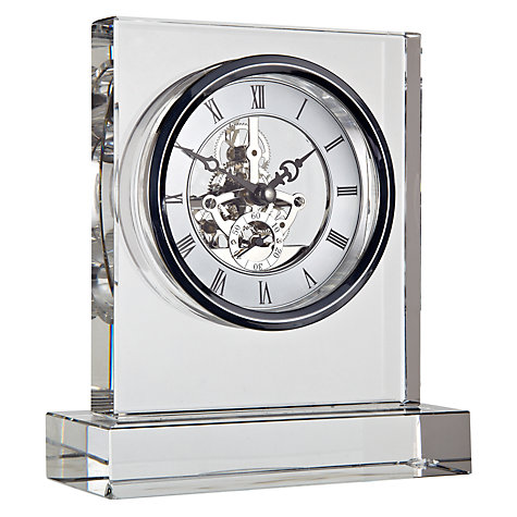 Buy London Clock Crystal Square Skeleton Clock Online at johnlewis.com