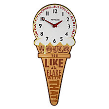 Buy Newgate Ice Cream Cone Clock, 45 x 19cm Online at johnlewis.com