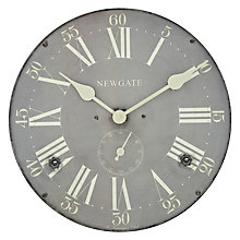 Buy Newgate Kensington Clock, Dia.50cm, Grey Online at johnlewis.com