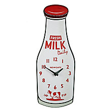 Buy Newgate Milk Bottle Wall Clock Online at johnlewis.com