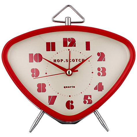 Buy London Clock Retro Skittles Alarm Clock, Red Online at johnlewis.com