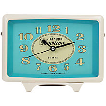 Buy London Clock Showtime Rectangular Alarm Clock, Cream/Blue Online at johnlewis.com