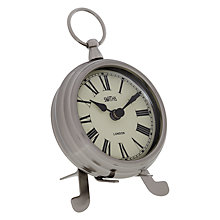 Buy Lascelles Smiths Mantel Clock, Chrome, Small Online at johnlewis.com