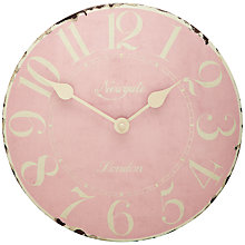 Buy Newgate Tin Clock, Ballet Pink Online at johnlewis.com
