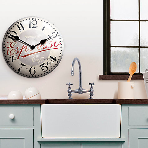Buy Newgate Tin Espresso Clock Online at johnlewis.com