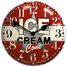 Buy Newgate Tin Ice Cream Clock Online at johnlewis.com