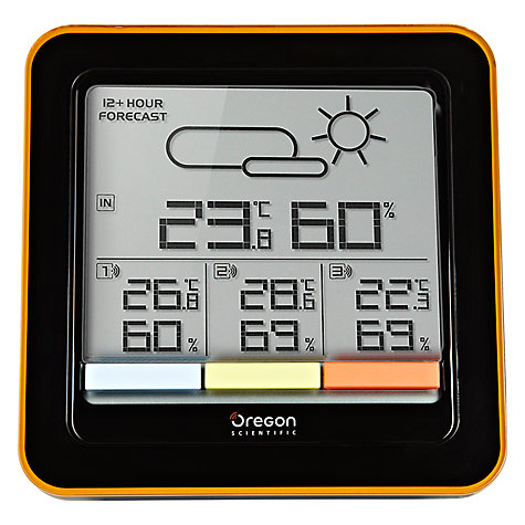 Buy Oregon Scientific 3 Zone Weather Clock, Black Online at johnlewis.com