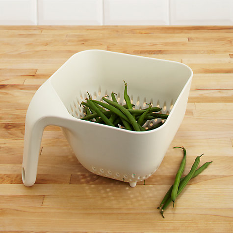 Buy Joseph Joseph Square Colander, Cream Online at johnlewis.com