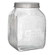 Buy John Lewis Botanist Glass Biscuit Storage Jar Online at johnlewis.com