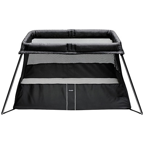 Buy BabyBjörn Travel Cot Light V2, Black Online at johnlewis.com