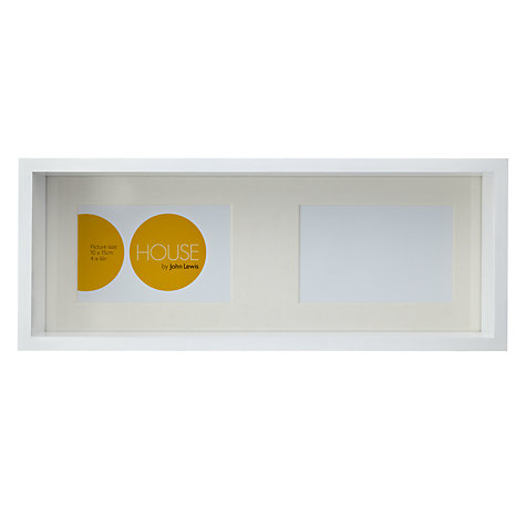 "Buy House by John Lewis Box Frame, 2 Aperture, 4 x 6"" Online at johnlewis.com"