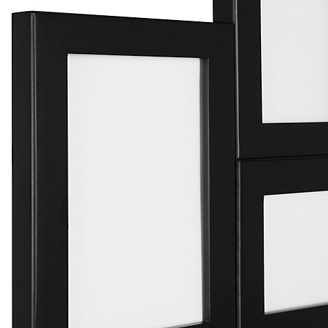Buy John Lewis Wooden Multi Aperture Photo Frame, Black Online at johnlewis.com