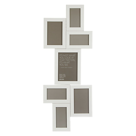 Buy John Lewis Multi-aperture Wooden Photo Frame, White Online at johnlewis.com