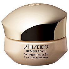 Buy Shiseido Benefiance WrinkleResist24 Eye Contour Cream, 15ml Online at johnlewis.com