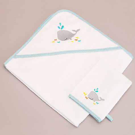 Buy John Lewis Whale Baby Bath Gift Set, Pearl and Aqua Online at johnlewis.com