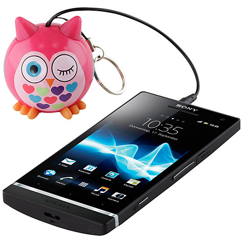 Buy KitSound Mini Buddy Owl Speaker, Pink Online at johnlewis.com