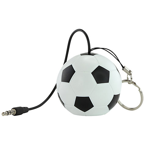 Buy KitSound Mini Buddy Football Speaker, Black/White Online at johnlewis.com
