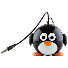 Buy KitSound Mini Buddy Penguin Speaker, Black/White Online at johnlewis.com