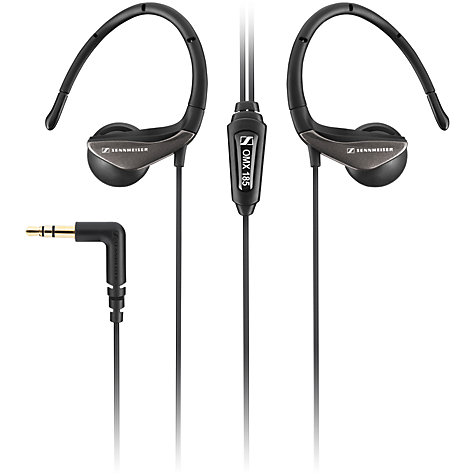 Buy Sennheiser OMX185 Around-Ear Headphones, Black Online at johnlewis.com