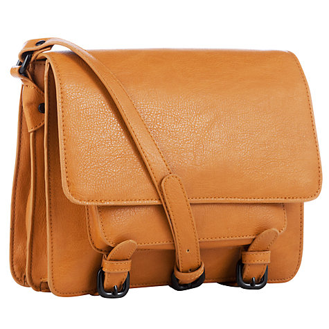 Buy Collection WEEKEND by John Lewis Acrossbody Satchel Handbag, Tan Online at johnlewis.com