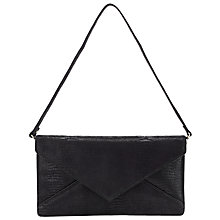 Buy John Lewis Envolpe Leather Clutch Handbag, Black Online at johnlewis.com