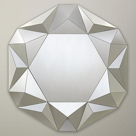 Buy John Lewis Facet Round Mirror, Medium, Dia.80cm Online at johnlewis.com