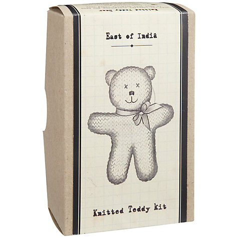 Buy East of India Knitted Teddy Bear Kit Online at johnlewis.com