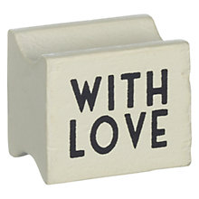 Buy East of India With Love Rubber Stamp Online at johnlewis.com
