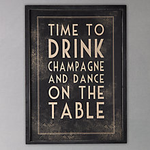 Buy East of India Time To Drink Sign Online at johnlewis.com