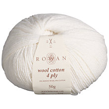 Buy Rowan Wool Cotton 4 Ply Yarn, 50g Online at johnlewis.com