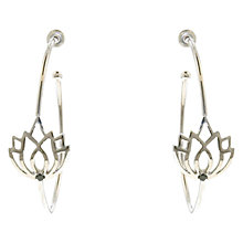 Buy Melissa Odabash Silver Plated Lotus Hoop Earrings Online at johnlewis.com