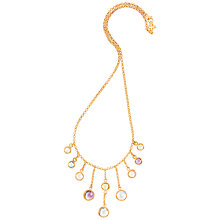 Buy Dower & Hall 18ct Vermeil Cascading Drop Necklace, Multi Online at johnlewis.com