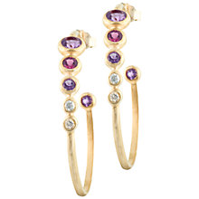 Buy Dower & Hall 18ct Vermeil Faceted Mixed Gemstone Hoop Earrings, Multi Online at johnlewis.com