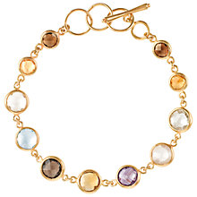 Buy Dower & Hall 18ct Vermeil Mixed Gemstone Bracelet, Gold / Multi Online at johnlewis.com