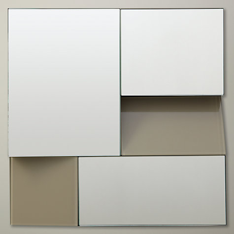 Buy John Lewis Facet Square Mirror, Grey, 25 x 25cm Online at johnlewis.com