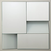 Buy John Lewis Facet Square Mirror, White, 25 x 25cm Online at johnlewis.com