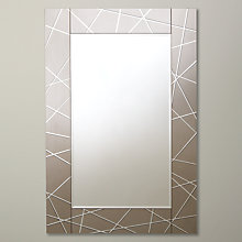 Buy John Lewis Smoke Engraved Mirror, 90 x 60cm Online at johnlewis.com